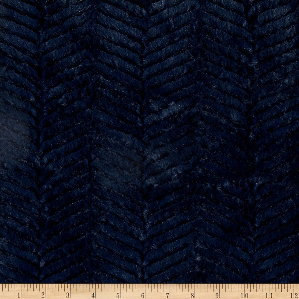 Shannon Minky Soft Ziggy Cuddle Navy