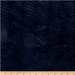 Minky Soft Ziggy Cuddle Navy Fabric