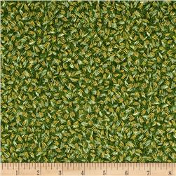 Kaufman Shades of the Season Metallic Hash Green