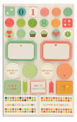 Martha Stewart Crafts Stickers Bright Birthday Celebration
