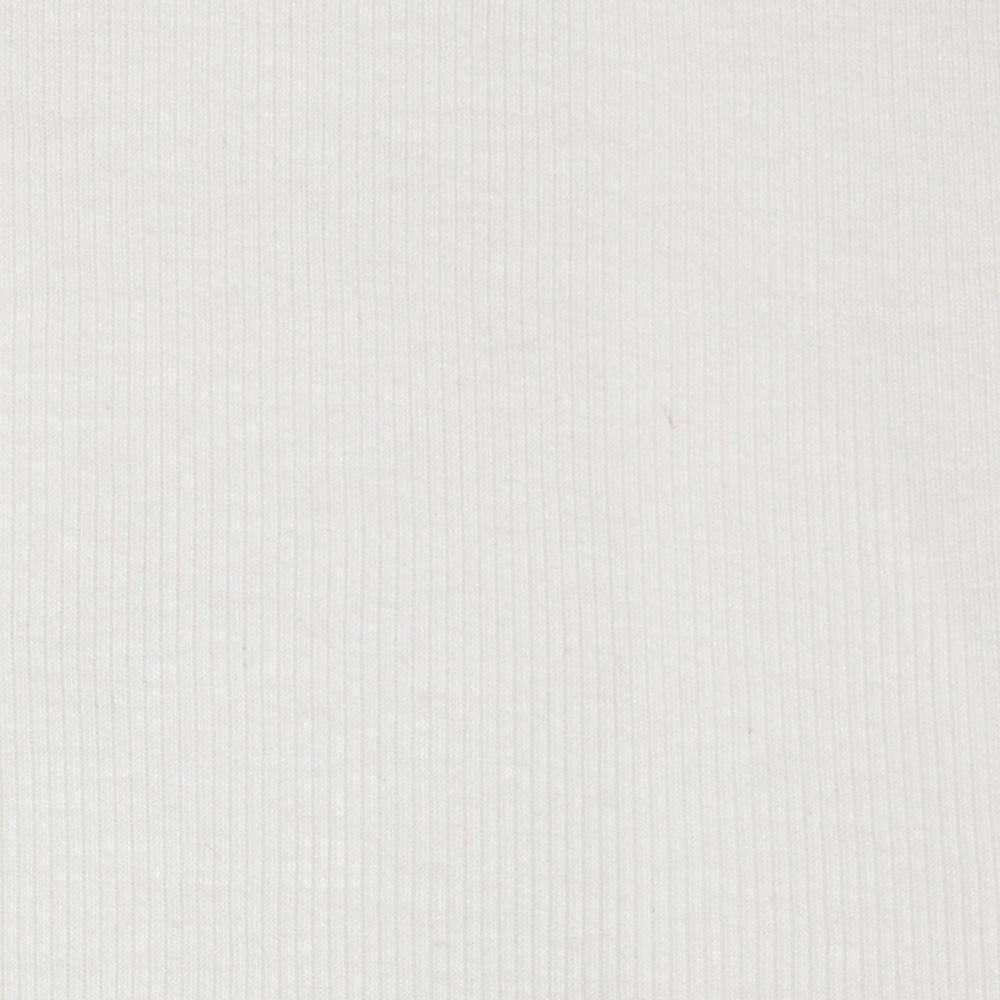 Rayon Rib Knit White Fabric