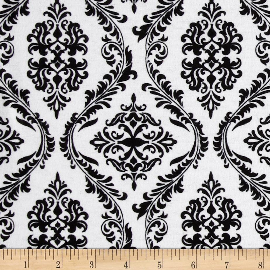 Flannel Damask White