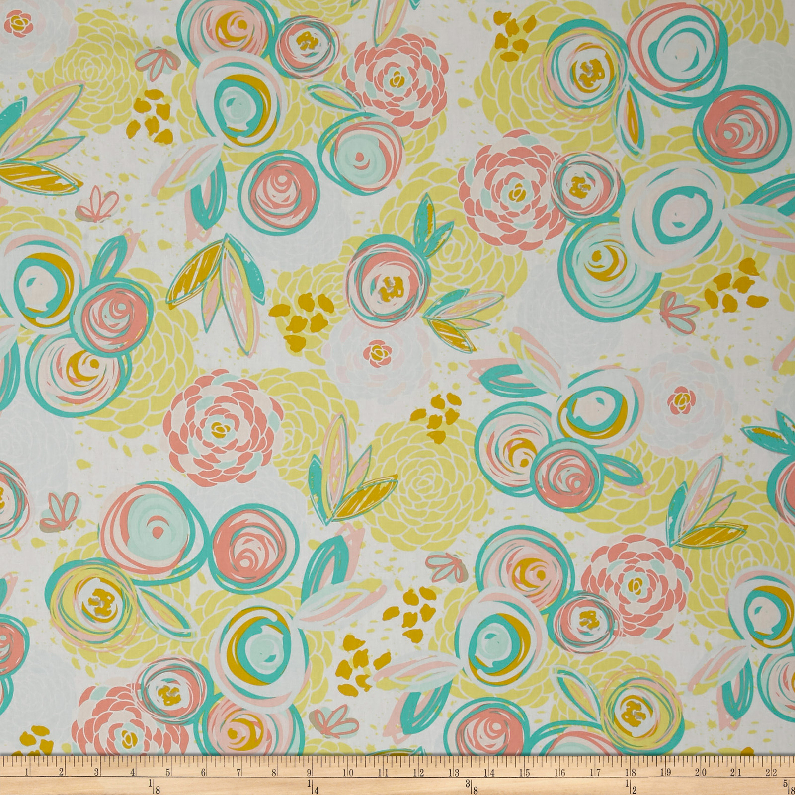 Art Gallery Reverie Fusion Sprayed Blooms  Fabric 0518483