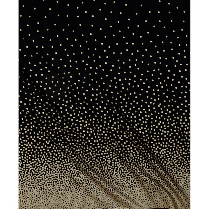 Michael Miller Glitz Metallic Confetti Border Pearlized Black/Bronze Fabric