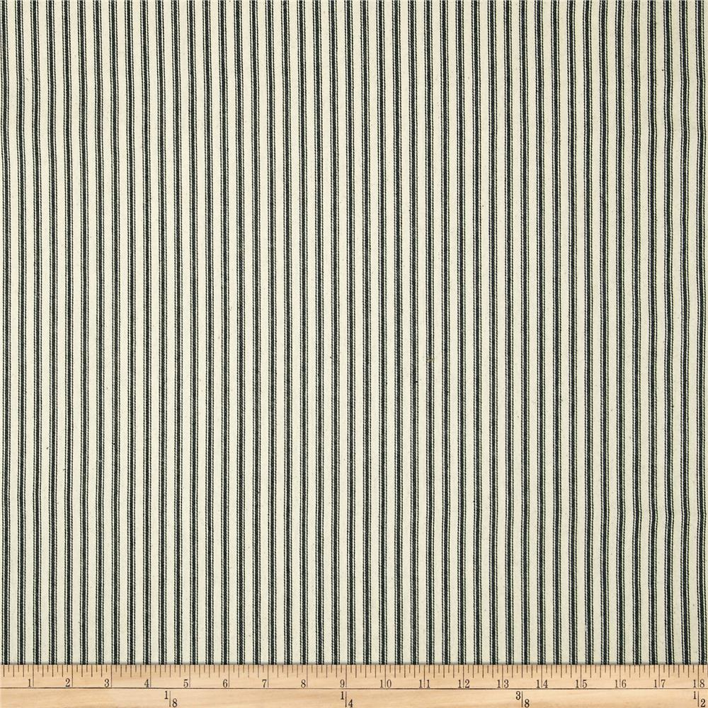 44 ticking stripe black discount designer fabric for Ticking fabric