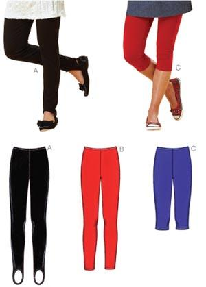 Kwik Sew Misses' Leggings Pattern