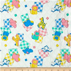 Quilted Vinyl Animals White/Pastel
