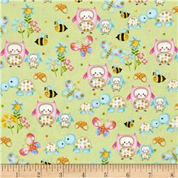 Woodland Cuties Owl & Friends Green