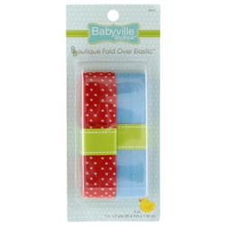 Babyville Boutique Fold Over Elastic Red/Blue