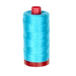 Aurifil 12wt Embellishment and Sashiko Dreams Thread Bright Turquoise