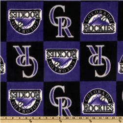 MLB Fleece Colorado Rockies Squares Purple/Black