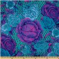 Kaffe Fassett Spring 2012 Collective Cabbage Rose Blue