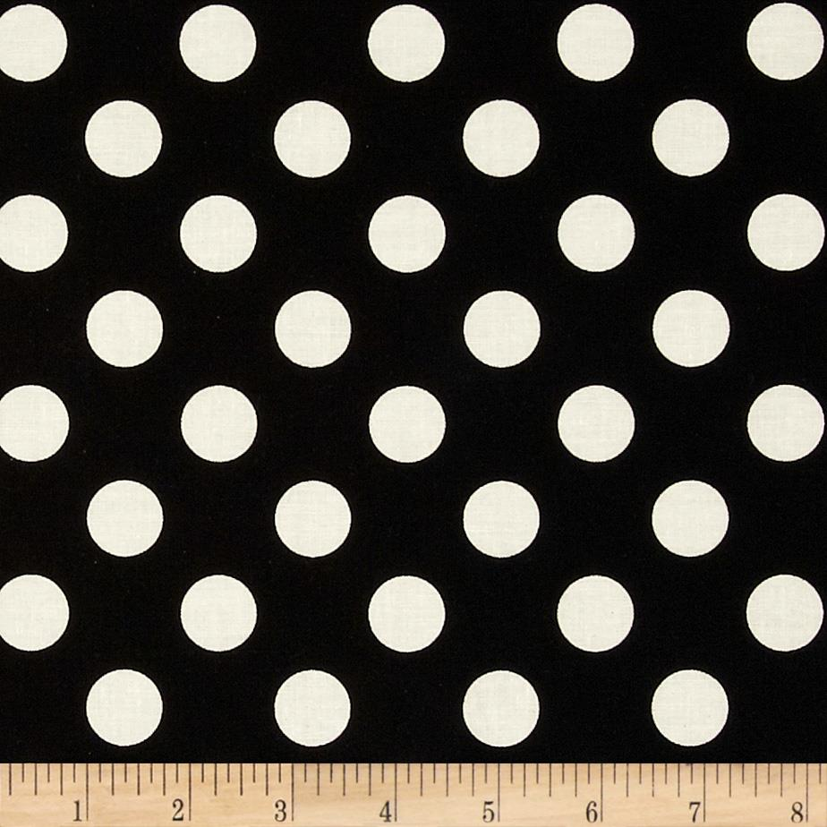 Riley Blake Le Creme Basics Medium Dots BLeck/Cream