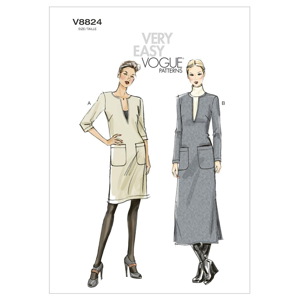 Vogue Misses'/Misses' Petite Dress Pattern V8824 Size 0Y0