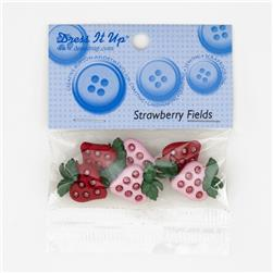 Dress It Up Embellishment Buttons Strawberry Fields