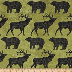 Elk Mountain Toss Animals Olive