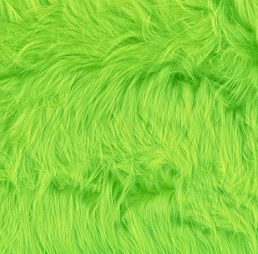 Faux Fur Luxury Shag Lime