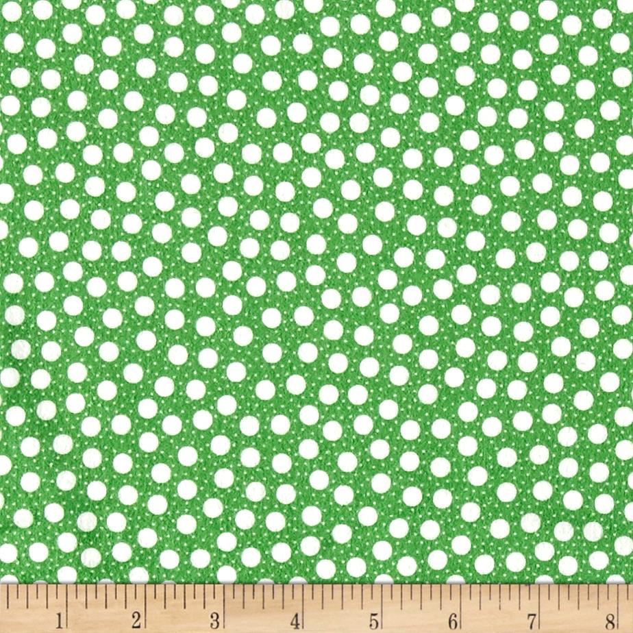 Moda Red Dot Green Dash Brushed Cottons Snow Storm Evergreen