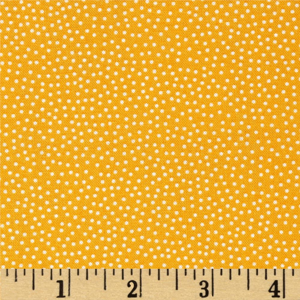 Prairie Yard Goods Pin Dots Yellow