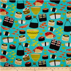 Michael Miller Sushi Turquoise Fabric