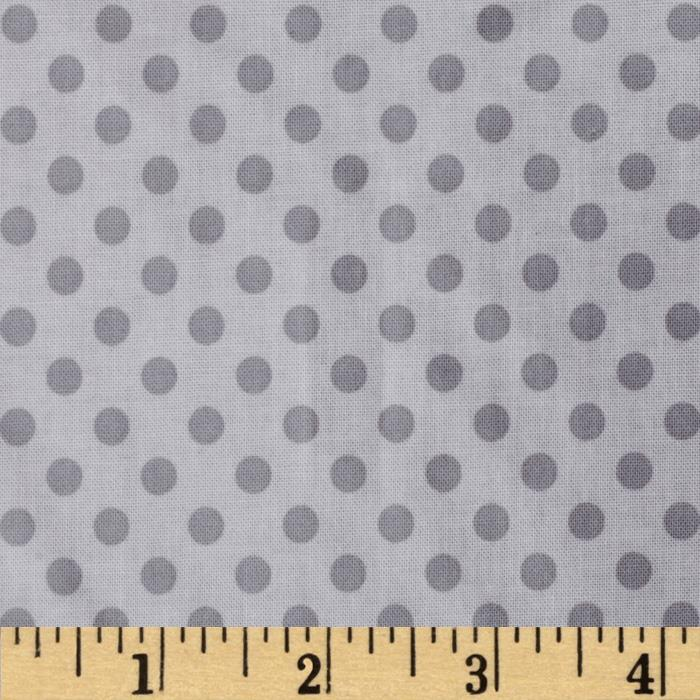 Riley Blake Laminated Cotton Small Dots Tone on Tone Gray