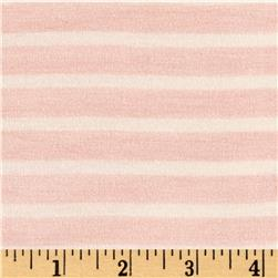 Rayon Spandex 1/2 X 1/4 Yarn Dyed Stripes Jersey Knit  A.Rose/Ivory
