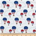 Storybook Americana Hot Air Balloons White