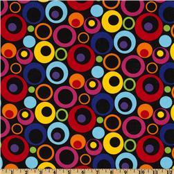 Large Circles Black Fabric