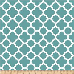 Riley Blake Medium Quatrefoil Teal