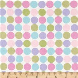 Cozy Cotton Flannel Large Dots Pastel Fabric