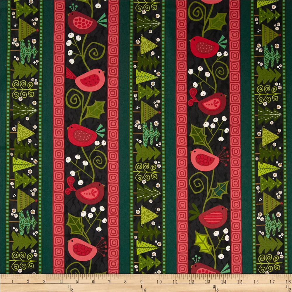 Evergreen Stripe Black
