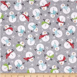 Frosty Forest Snowman Swirl Grey/Multi