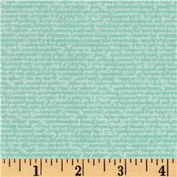 Riley Blake Rustic Elegance Words Mint