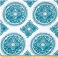 Ty Pennington Home Decor Sateen Fall 11 Medallion Teal