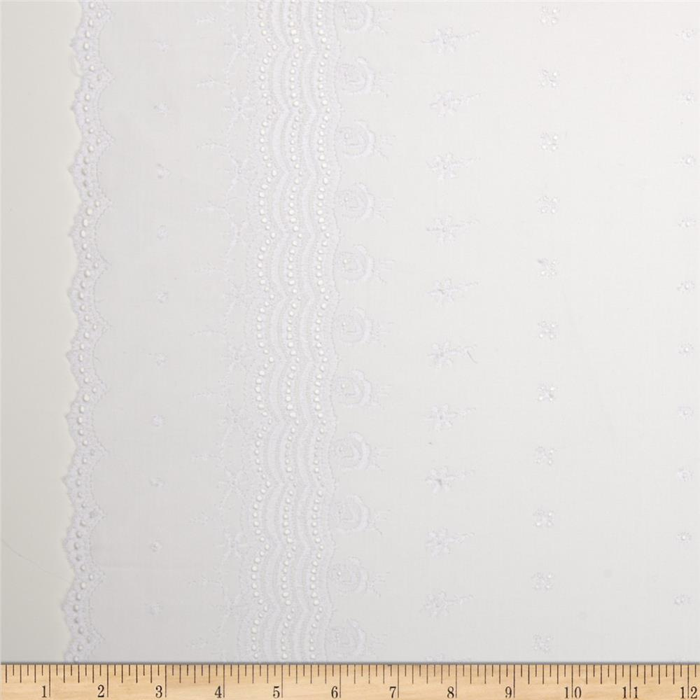 Imperial Eyelet Flounce 7'' Fancy Scallop Border White
