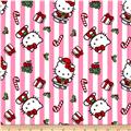 Hello Kitty Christmas Stripes Pink