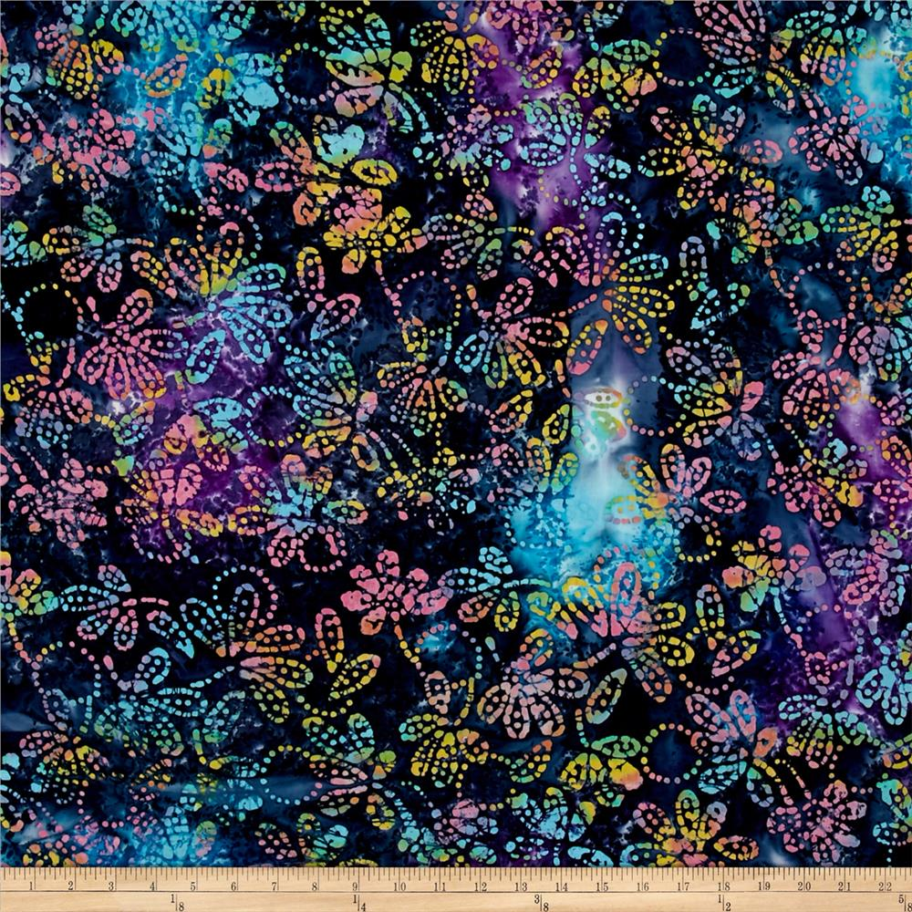 Indian Batik Gypsy Floral Lavendar/Multi