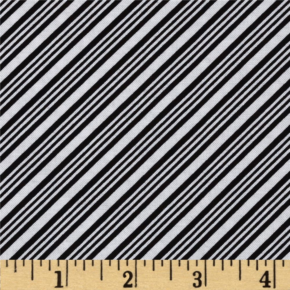 Peppermint Penguin Bias Stripe Black