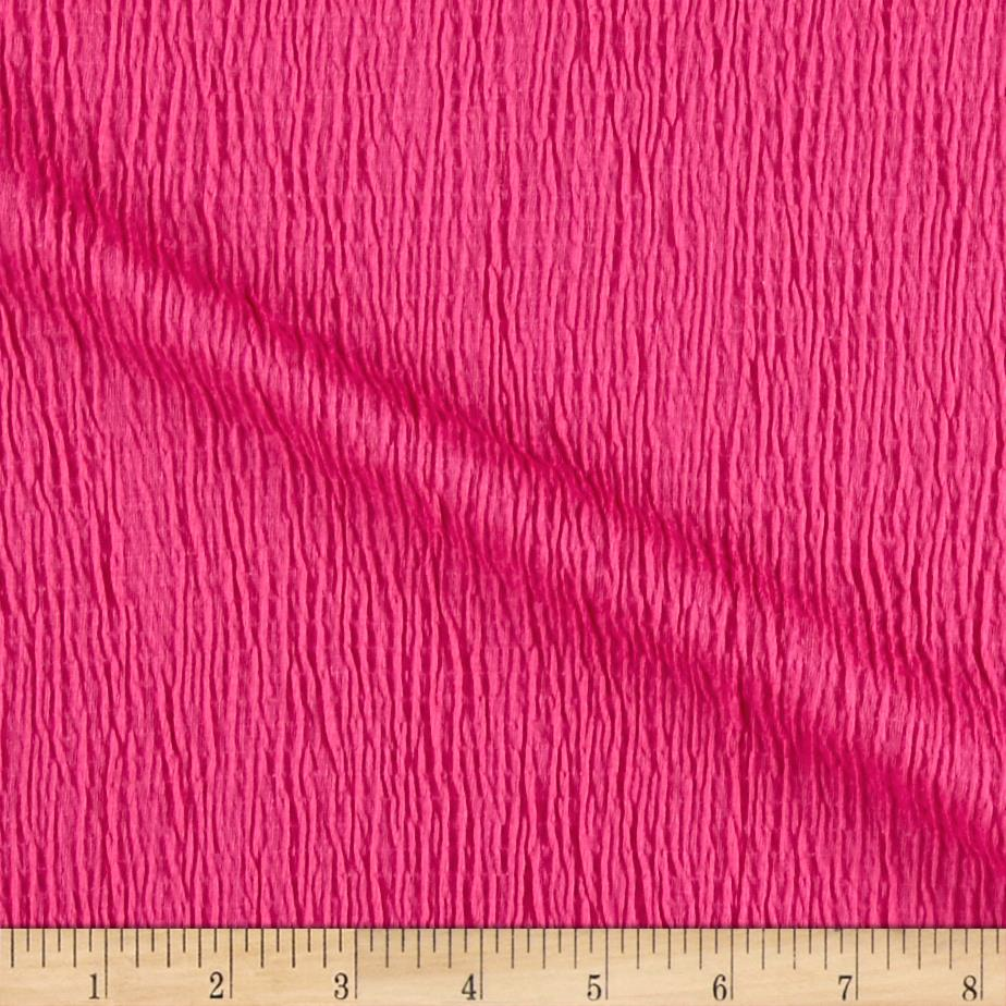 Smocked Cotton Stretch Knit Hot Pink