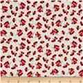 Noel Holly Berries Linen White