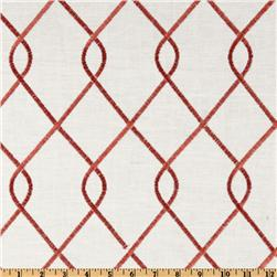Duralee Home Embroidered Rico Rosewood