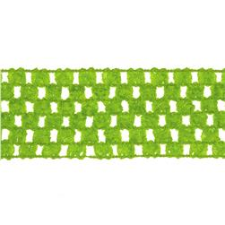 1 3/4'' Crochet Headband Trim Lime