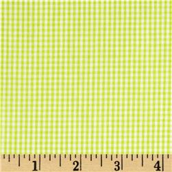 Cotton Gingham Check 1/16'' Lime/White