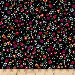 Timeless Treasures Jubilee Ditsy Floral Black