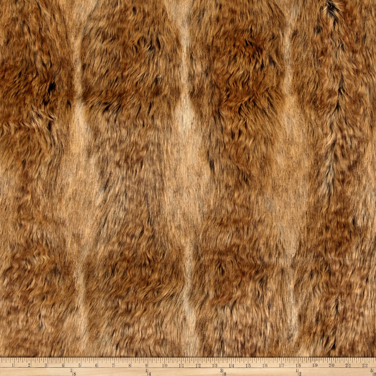 Faux Fur Canadian Fox Fur Honey Fabric