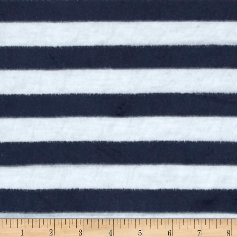 Designer Hatchi Sweater Knit Velour Stripe White/Navy