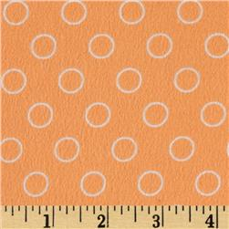 Googlies Flannel Bubbles Peach