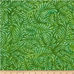 Batavian Batiks Feathers Bright Green