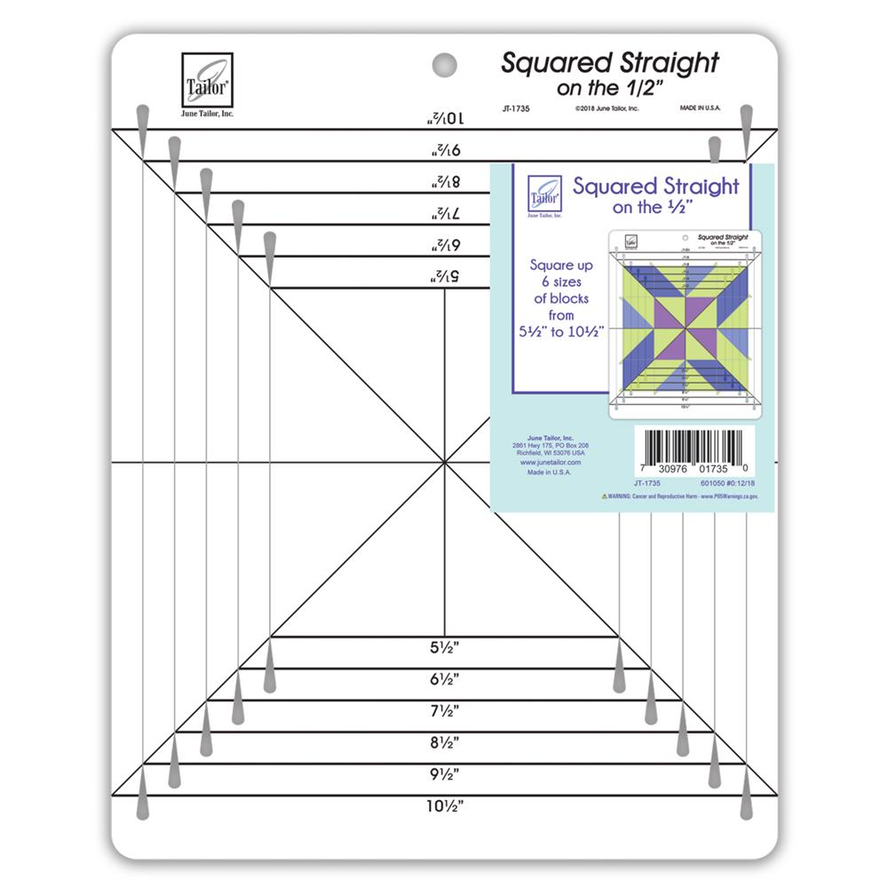 10 Squared june tailor squared straight on the 1/2 ruler