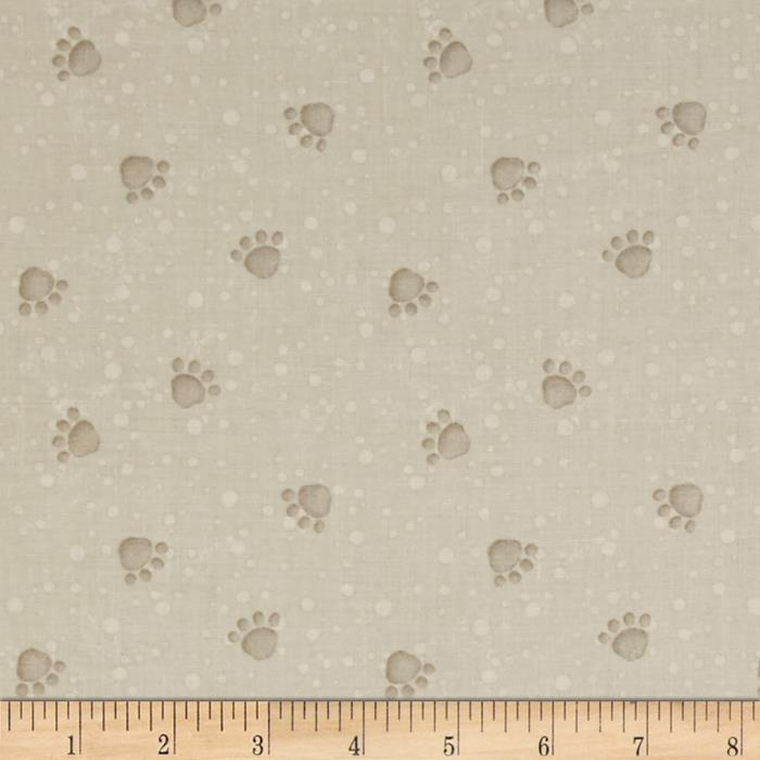Pampered Pooch Dog Prints Beige